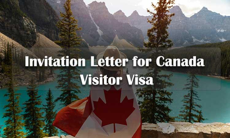कनाडा आगंतुक वीजा के लिए निमंत्रण पत्र