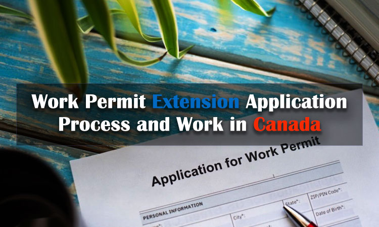 Work permit extension application process and work in Canada